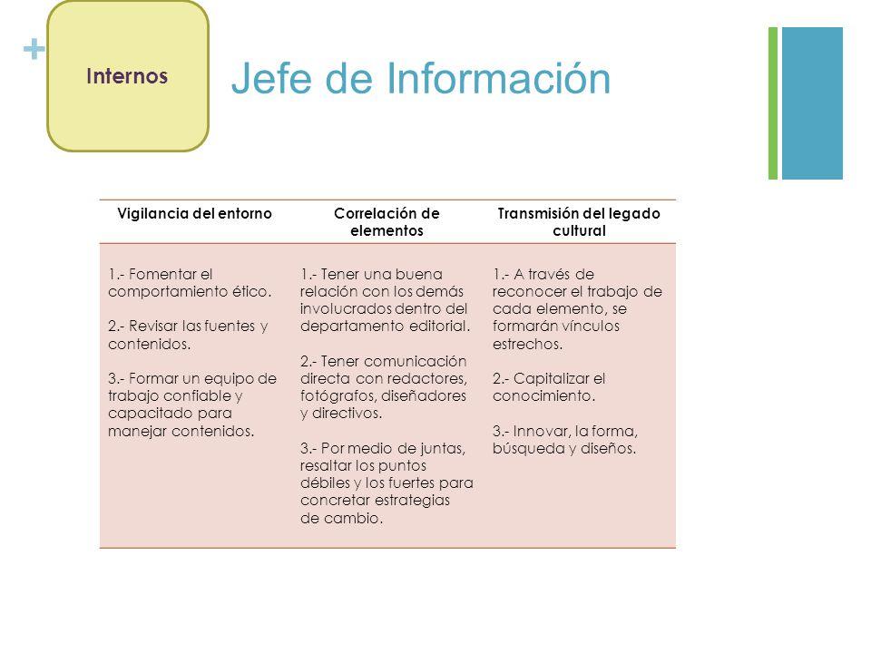 Jefe de Información Internos Vigilancia del entorno