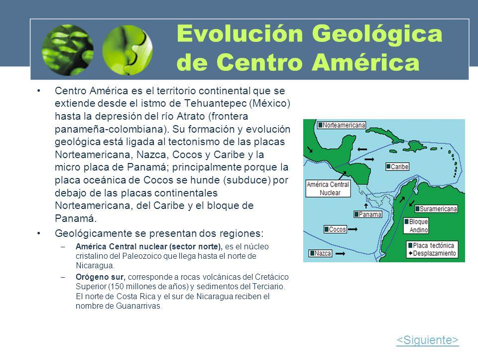 Evolución Geológica de Centro América