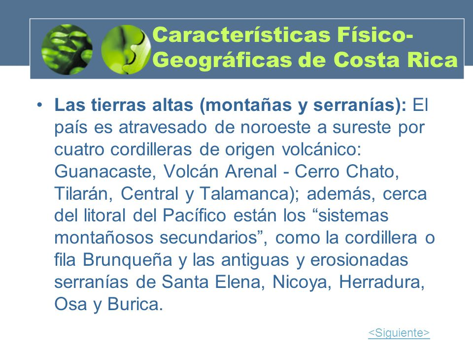 Características Físico-Geográficas de Costa Rica