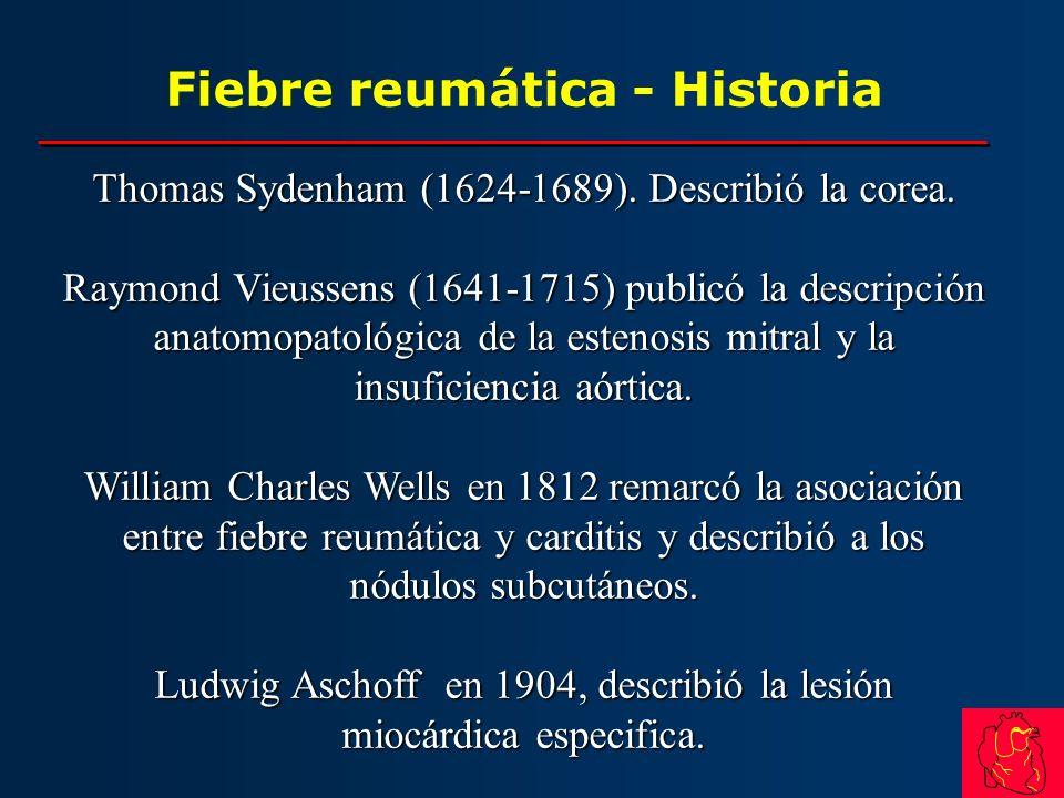 Fiebre reumática - Historia