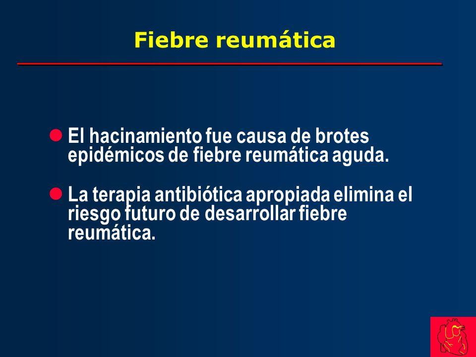 Fiebre reumática El hacinamiento fue causa de brotes epidémicos de fiebre reumática aguda.
