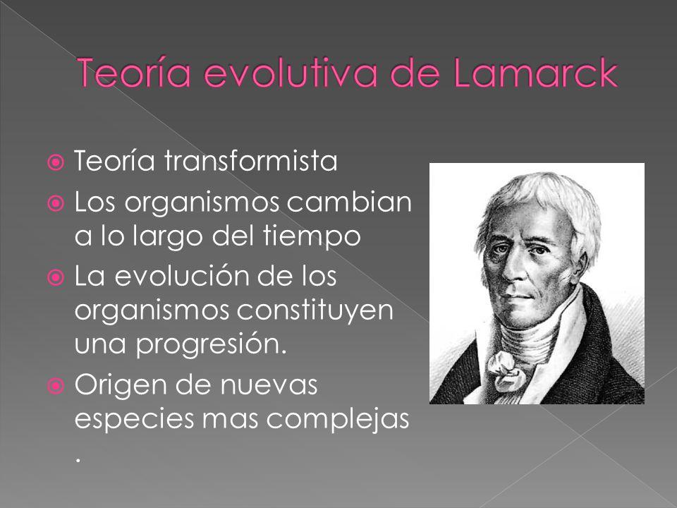Teoría evolutiva de Lamarck