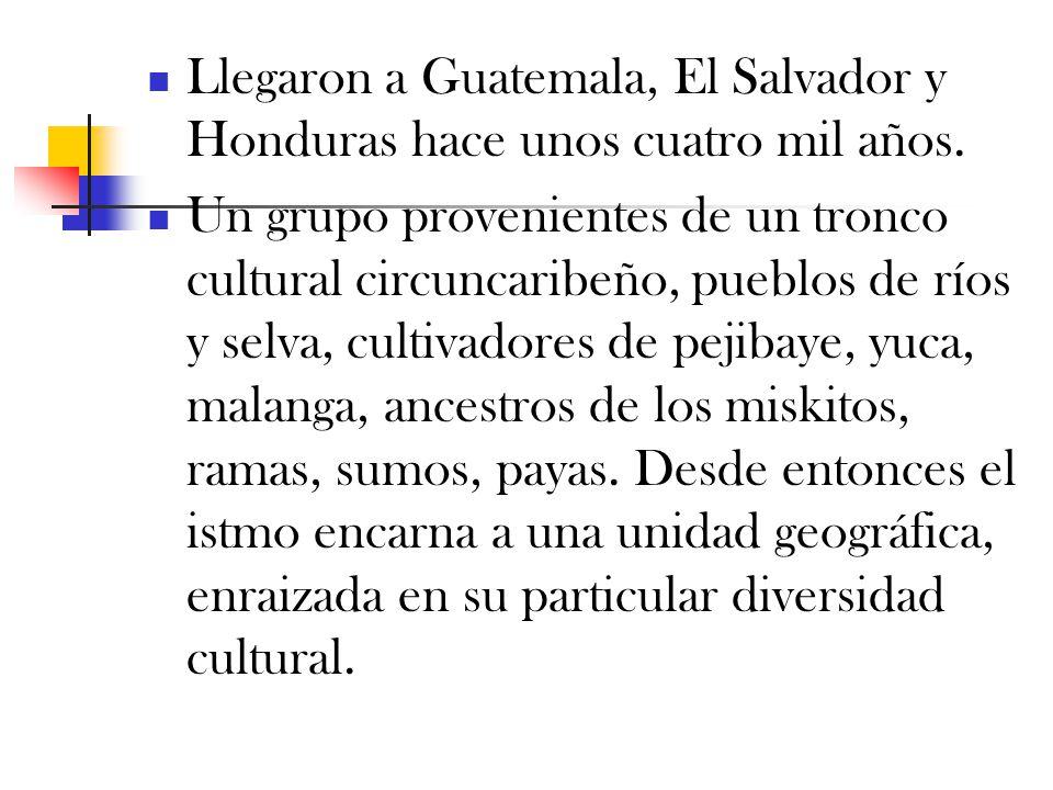 Llegaron a Guatemala, El Salvador y Honduras hace unos cuatro mil años.