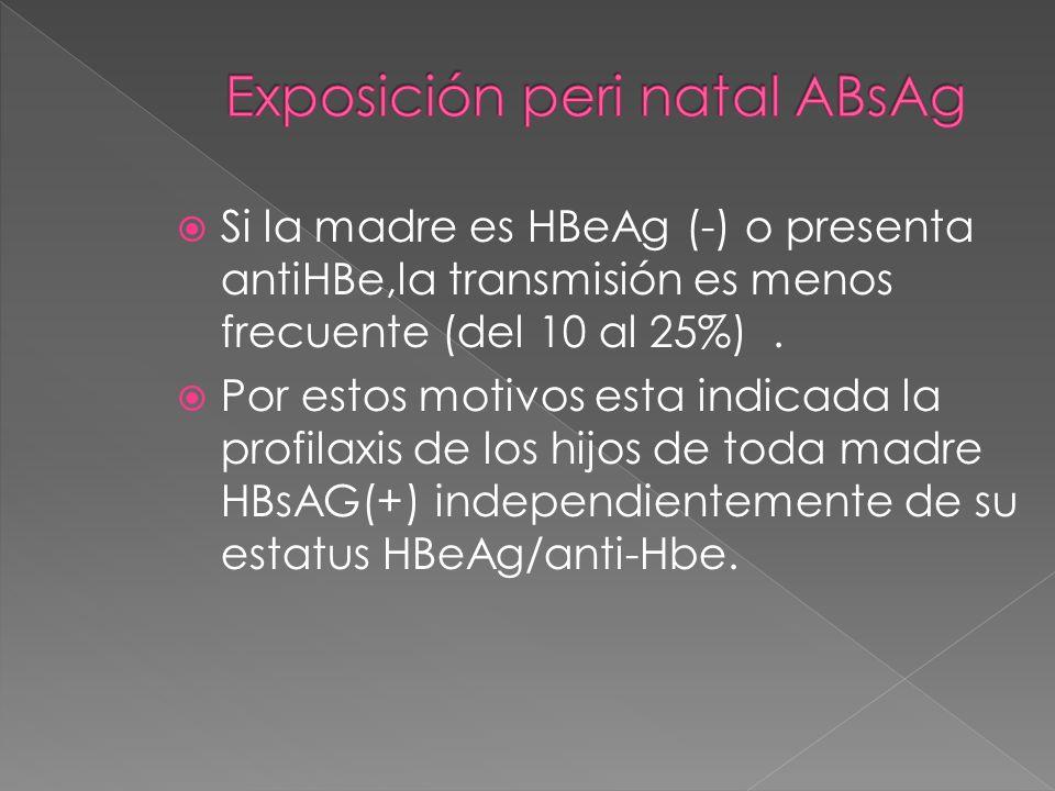 Exposición peri natal ABsAg