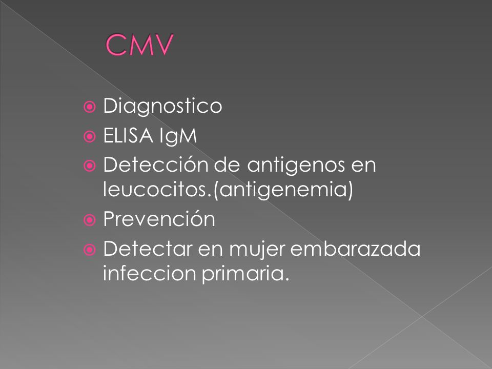 CMV Diagnostico ELISA IgM