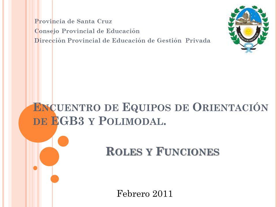 Encuentro de Equipos de Orientación de EGB3 y Polimodal.