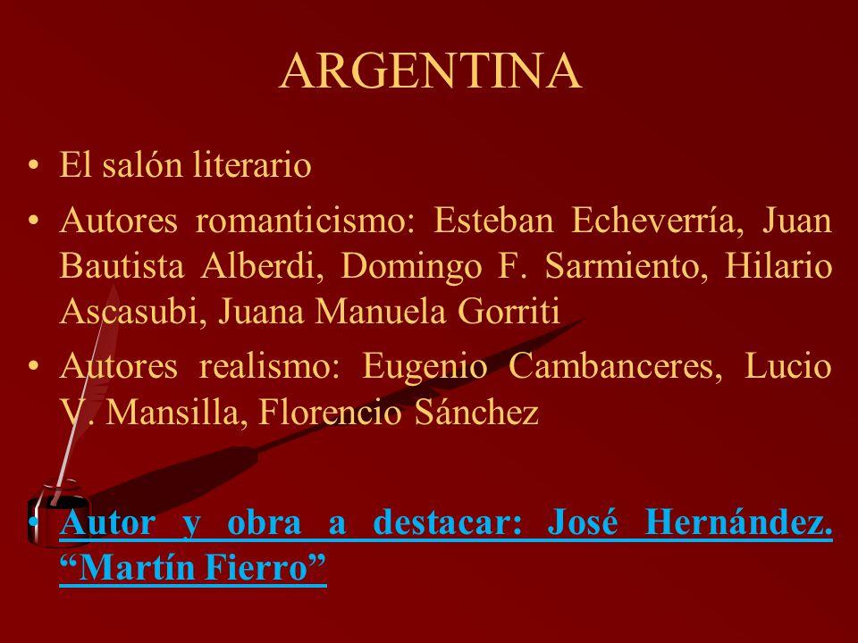 ARGENTINA El salón literario