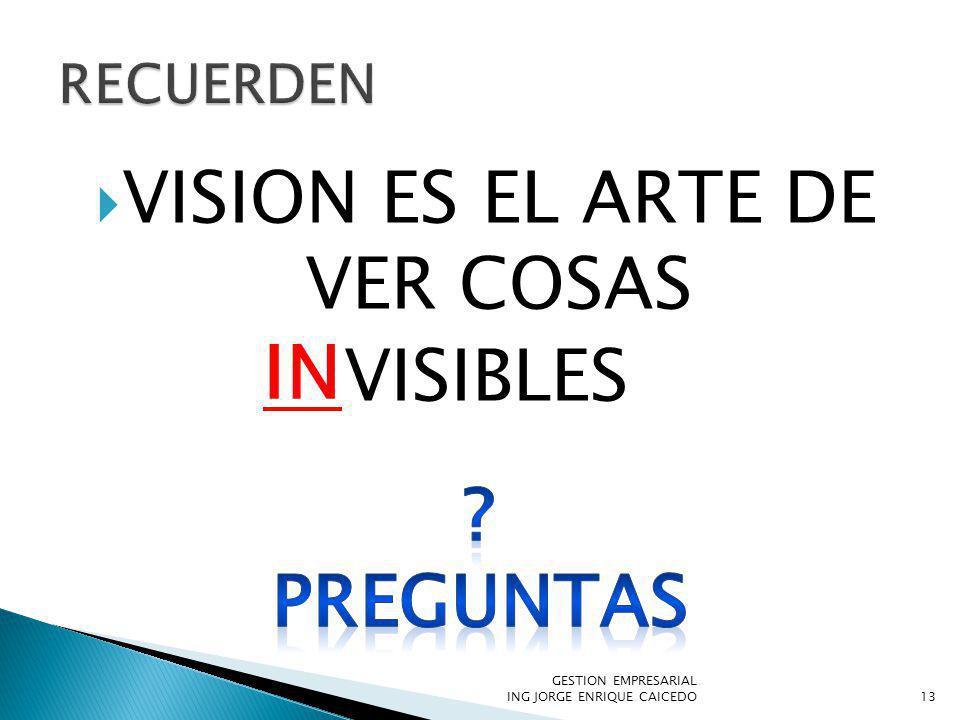 VISION ES EL ARTE DE VER COSAS