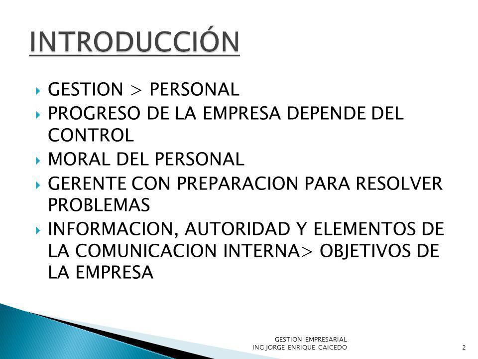 INTRODUCCIÓN GESTION > PERSONAL
