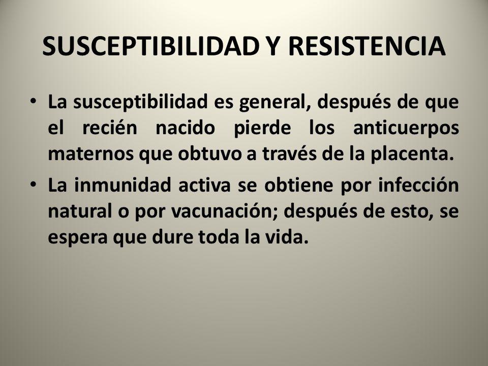 SUSCEPTIBILIDAD Y RESISTENCIA