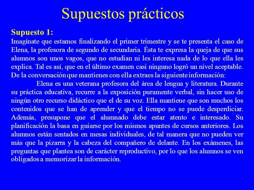 Supuestos prácticos Supuesto 1: