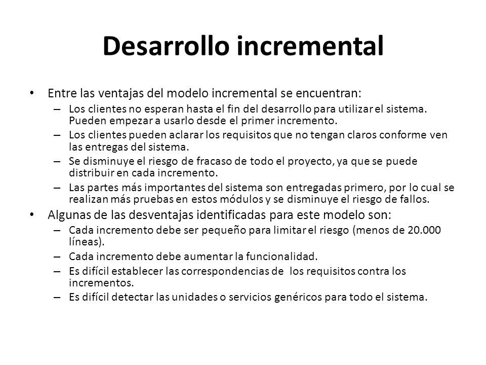Desarrollo incremental