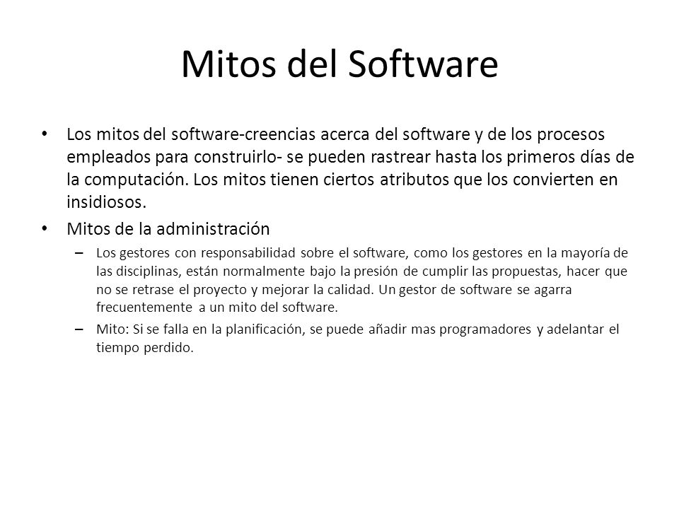 Mitos del Software