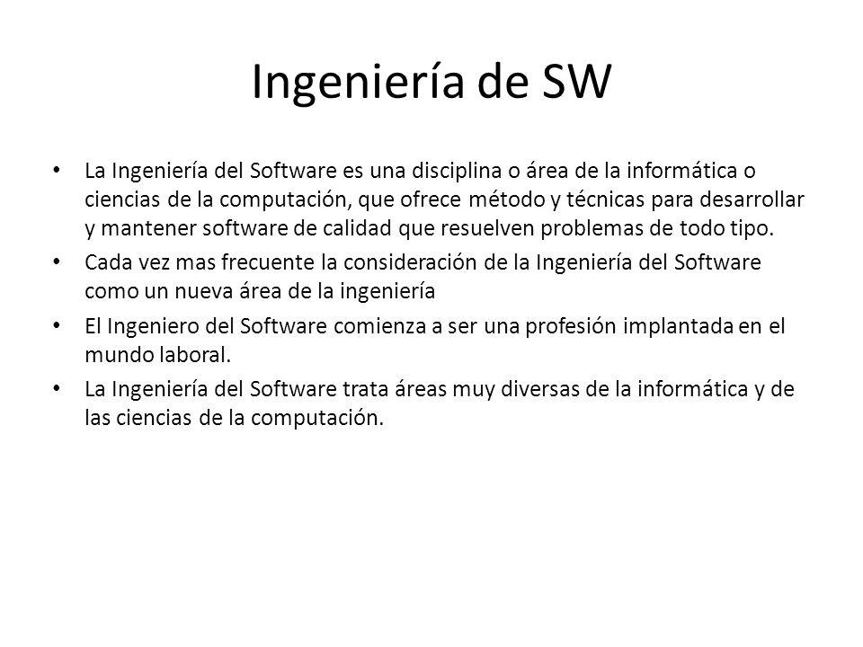 Ingeniería de SW