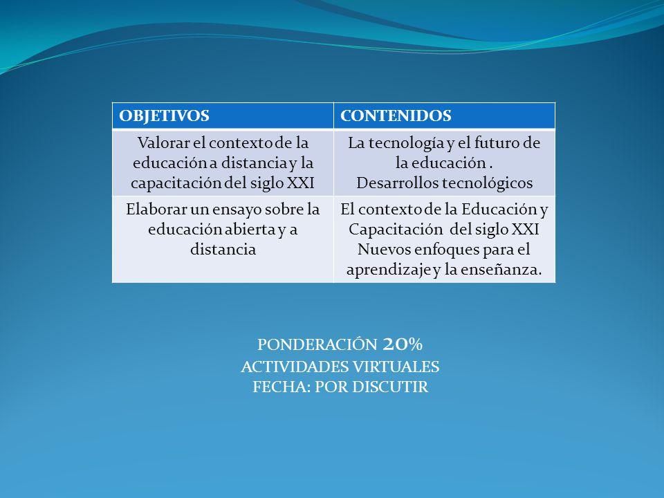 La tecnología y el futuro de la educación . Desarrollos tecnológicos