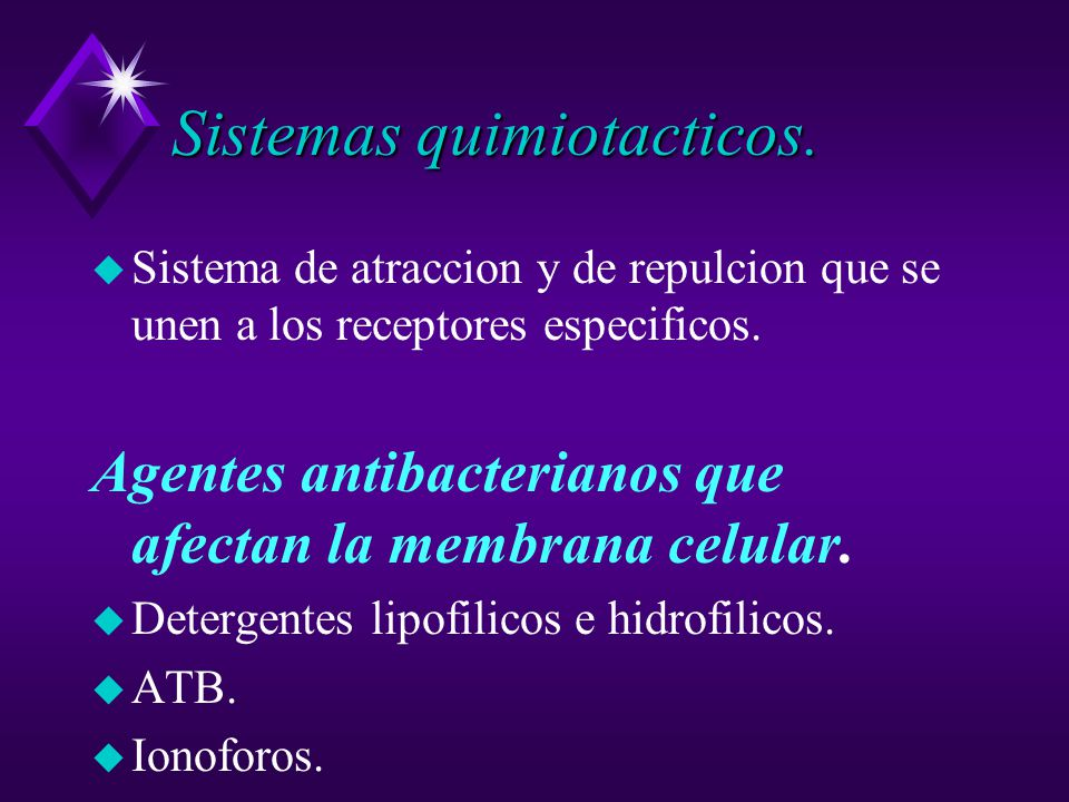 Sistemas quimiotacticos.