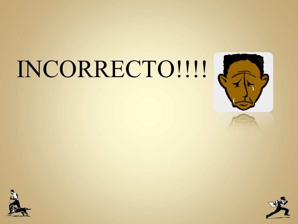 INCORRECTO!!!!