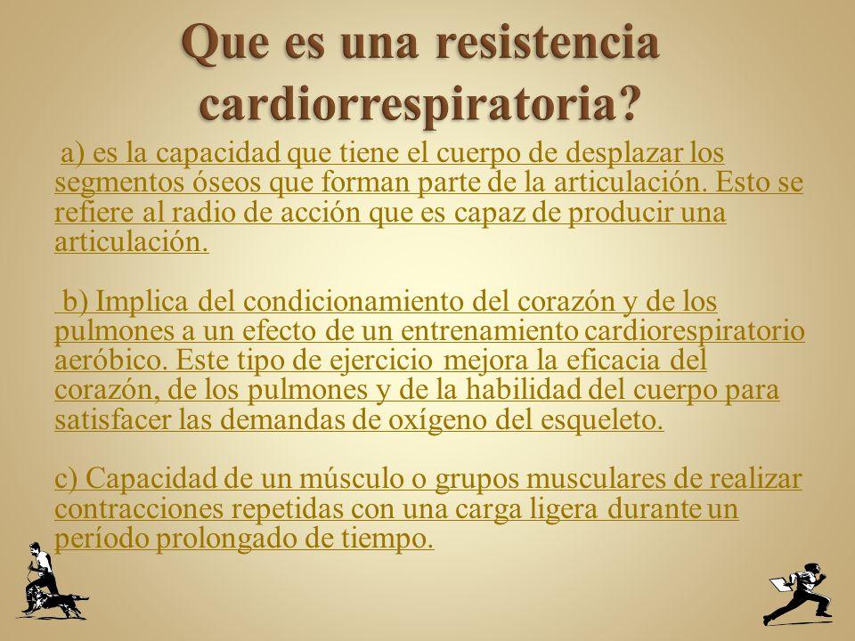 Que es una resistencia cardiorrespiratoria