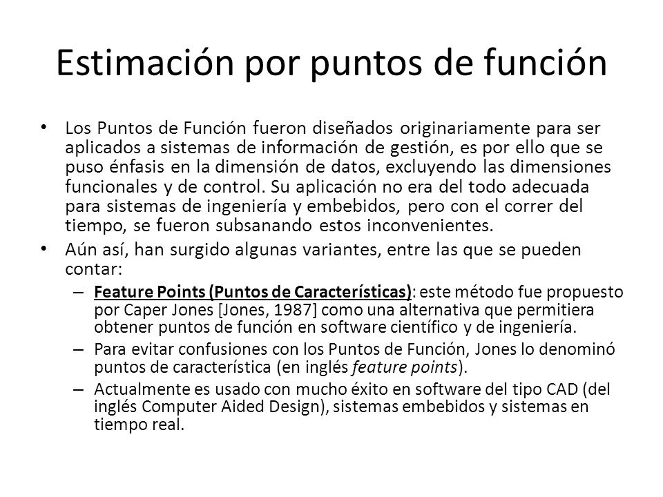Estimación por puntos de función