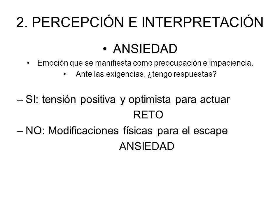2. PERCEPCIÓN E INTERPRETACIÓN