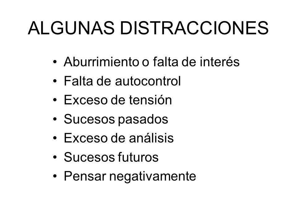 ALGUNAS DISTRACCIONES