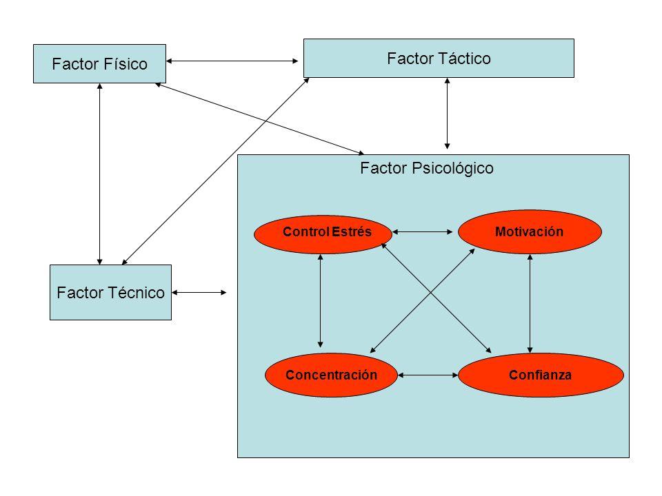 Factor Táctico Factor Físico Factor Psicológico Factor Técnico
