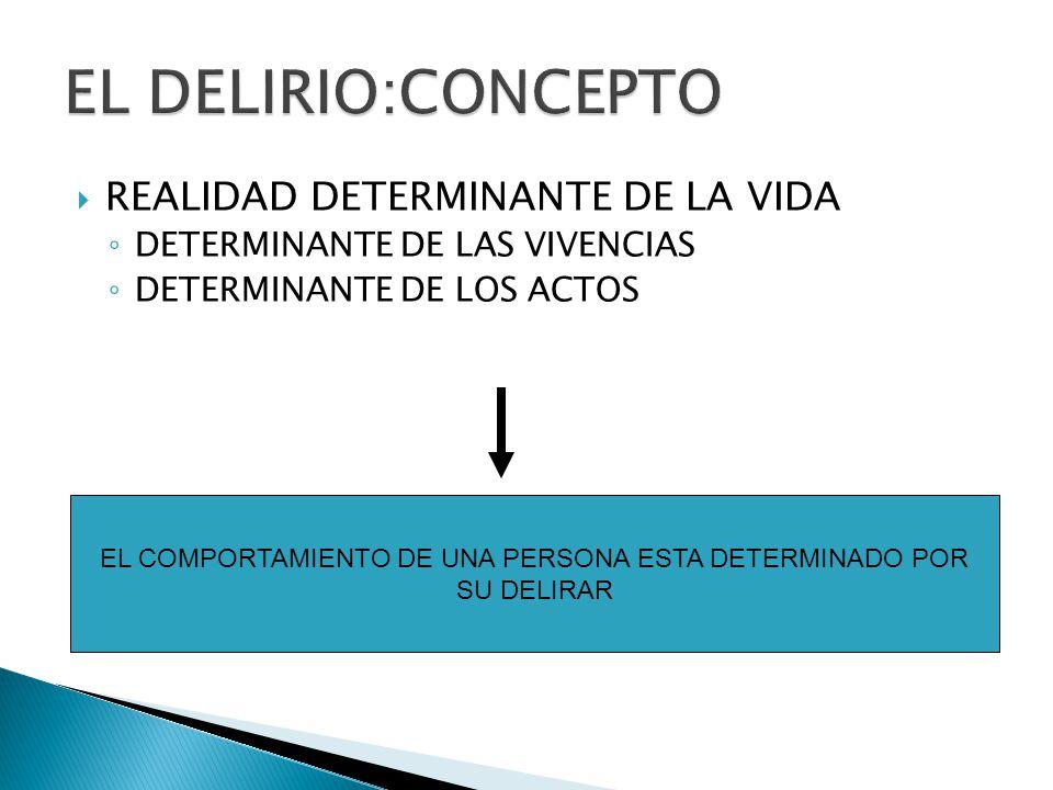 EL COMPORTAMIENTO DE UNA PERSONA ESTA DETERMINADO POR