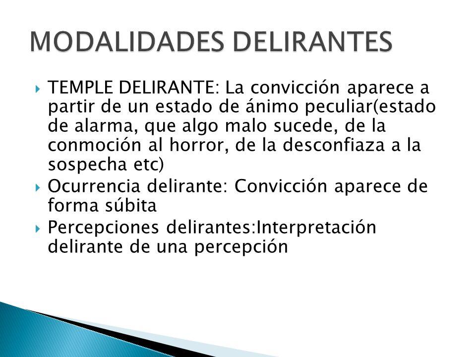 MODALIDADES DELIRANTES