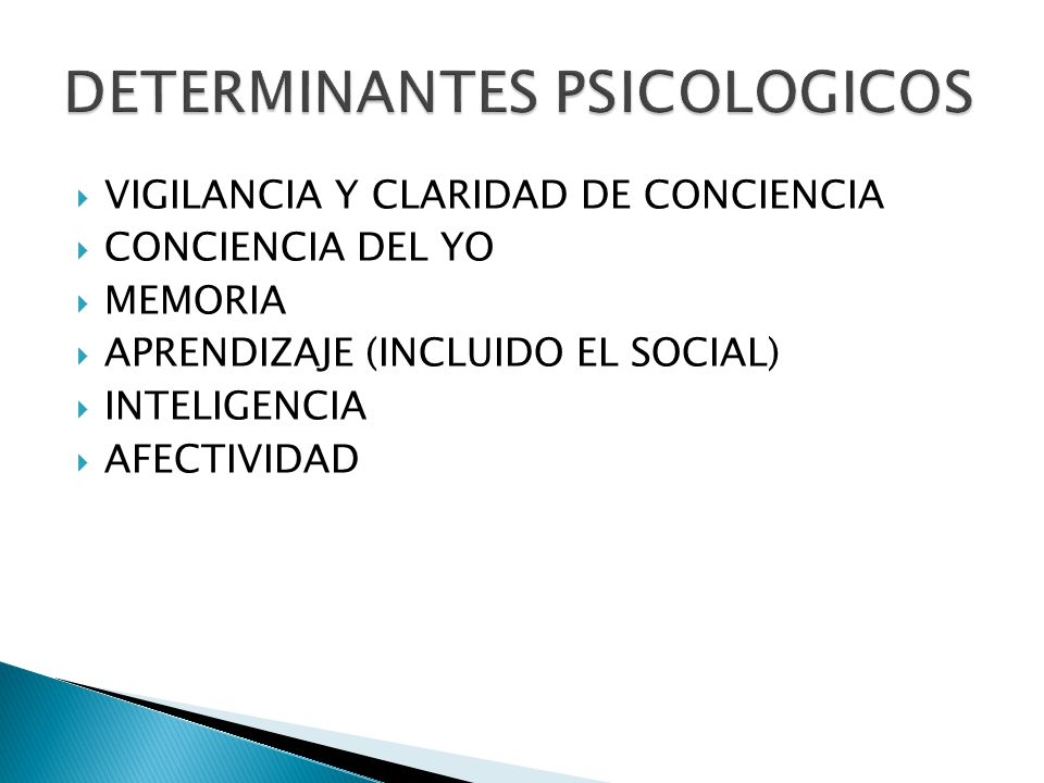 DETERMINANTES PSICOLOGICOS