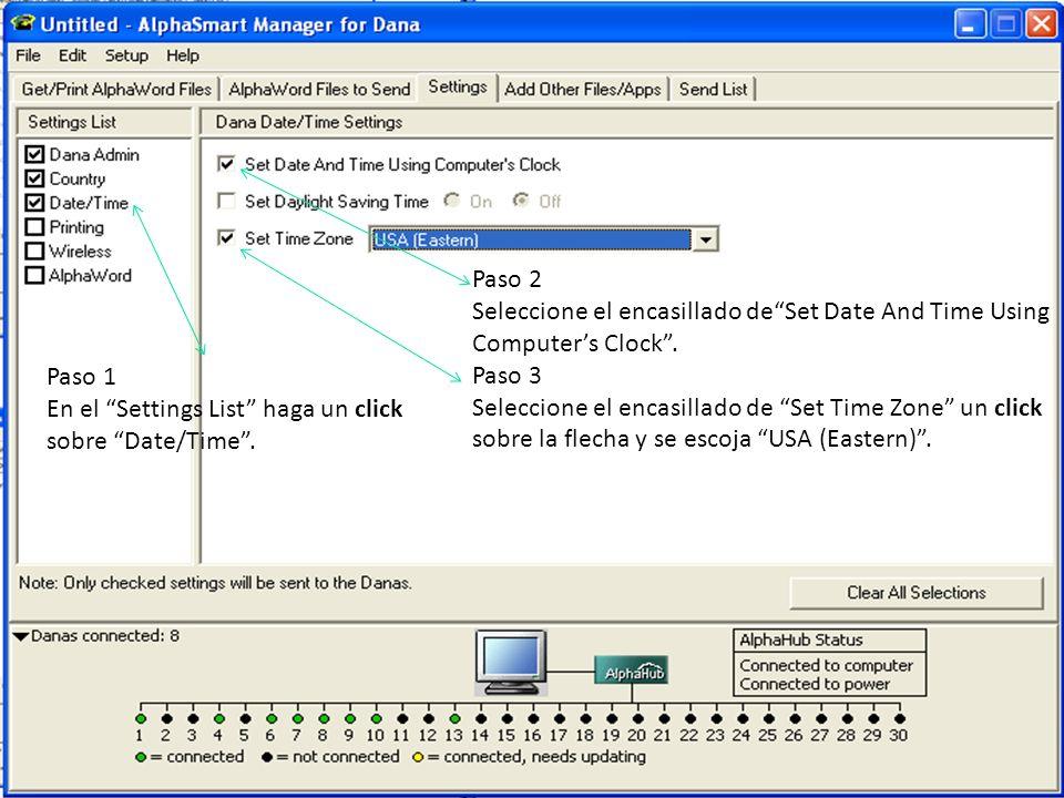 Paso 2Seleccione el encasillado de Set Date And Time Using Computer's Clock . Paso 3.