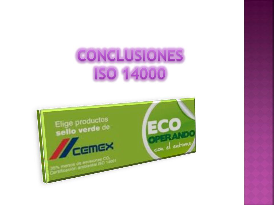 CONCLUSIONES ISO 14000