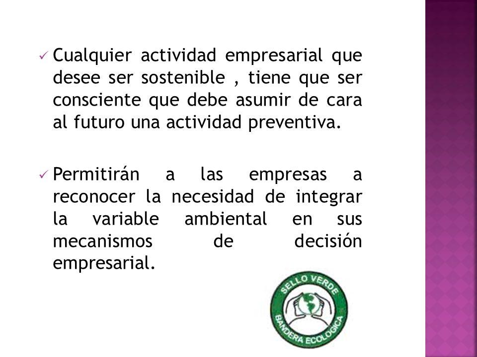 Cualquier actividad empresarial que desee ser sostenible , tiene que ser consciente que debe asumir de cara al futuro una actividad preventiva.
