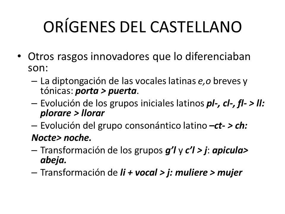 ORÍGENES DEL CASTELLANO