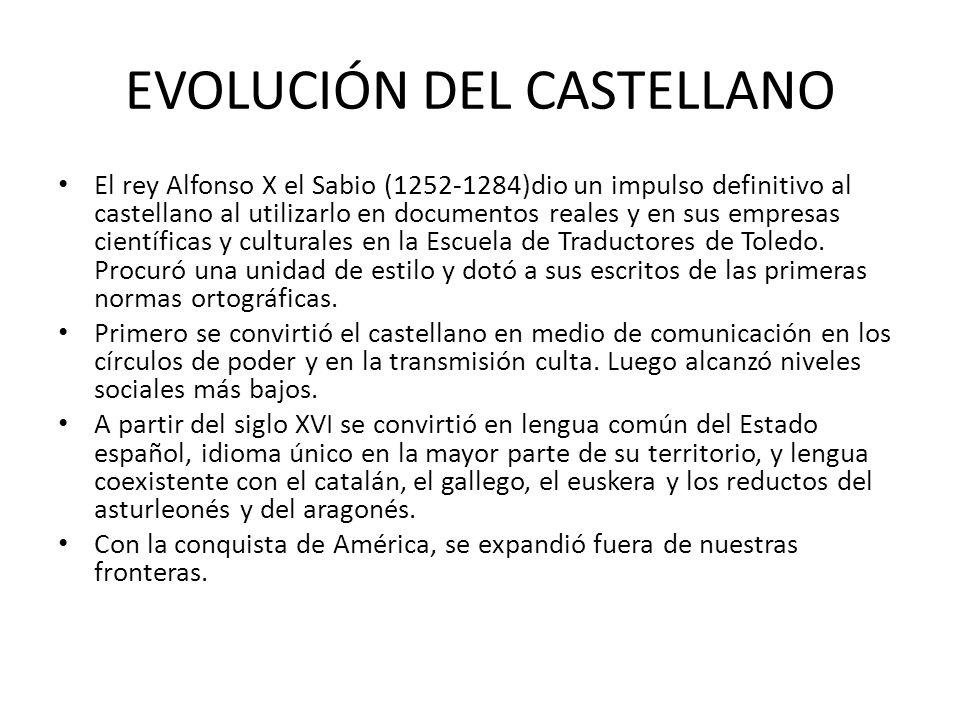 EVOLUCIÓN DEL CASTELLANO