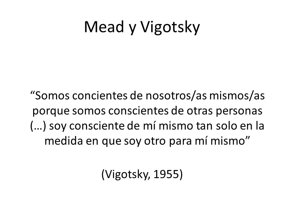 Mead y Vigotsky