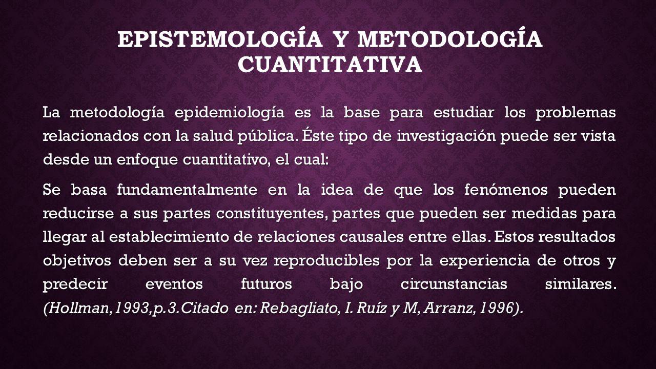 EPISTEMOLOGÍA Y METODOLOGÍA CUANTITATIVA