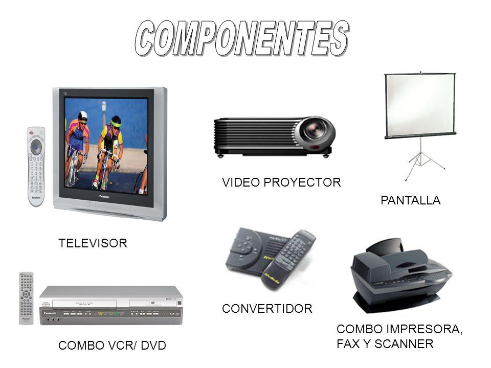 COMPONENTES VIDEO PROYECTOR PANTALLA TELEVISOR CONVERTIDOR