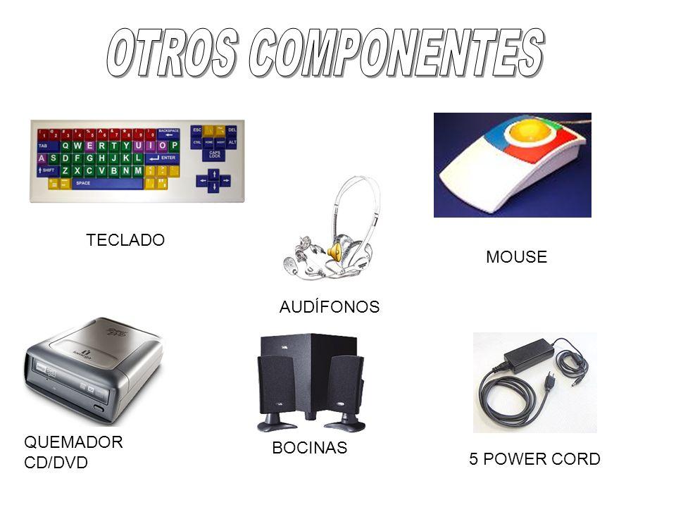 OTROS COMPONENTES TECLADO MOUSE AUDÍFONOS QUEMADOR CD/DVD BOCINAS