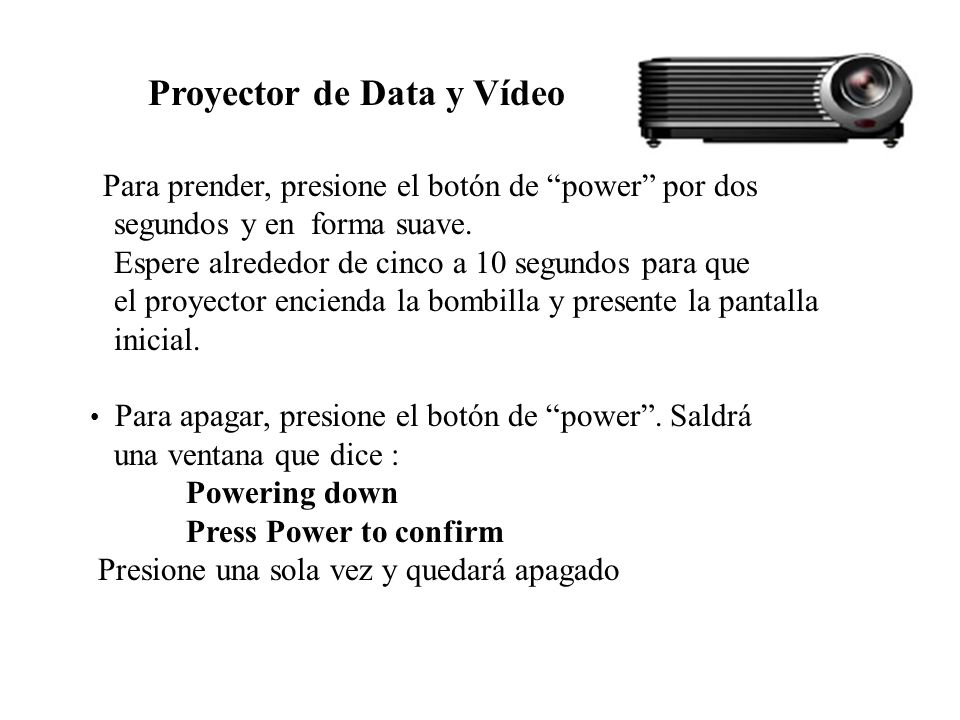 Proyector de Data y Vídeo