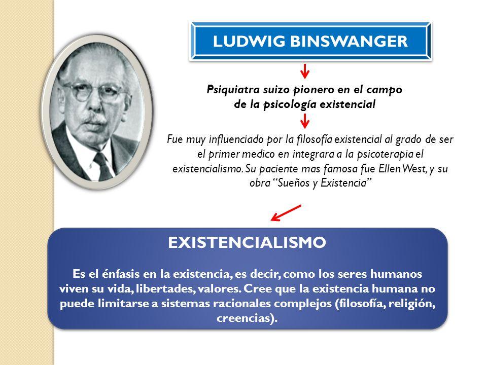 Psiquiatra suizo pionero en el campo de la psicología existencial