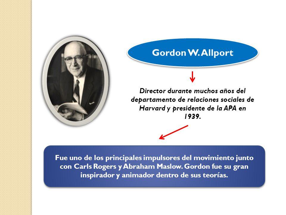 Gordon W. Allport Director durante muchos años del departamento de relaciones sociales de Harvard y presidente de la APA en 1939.