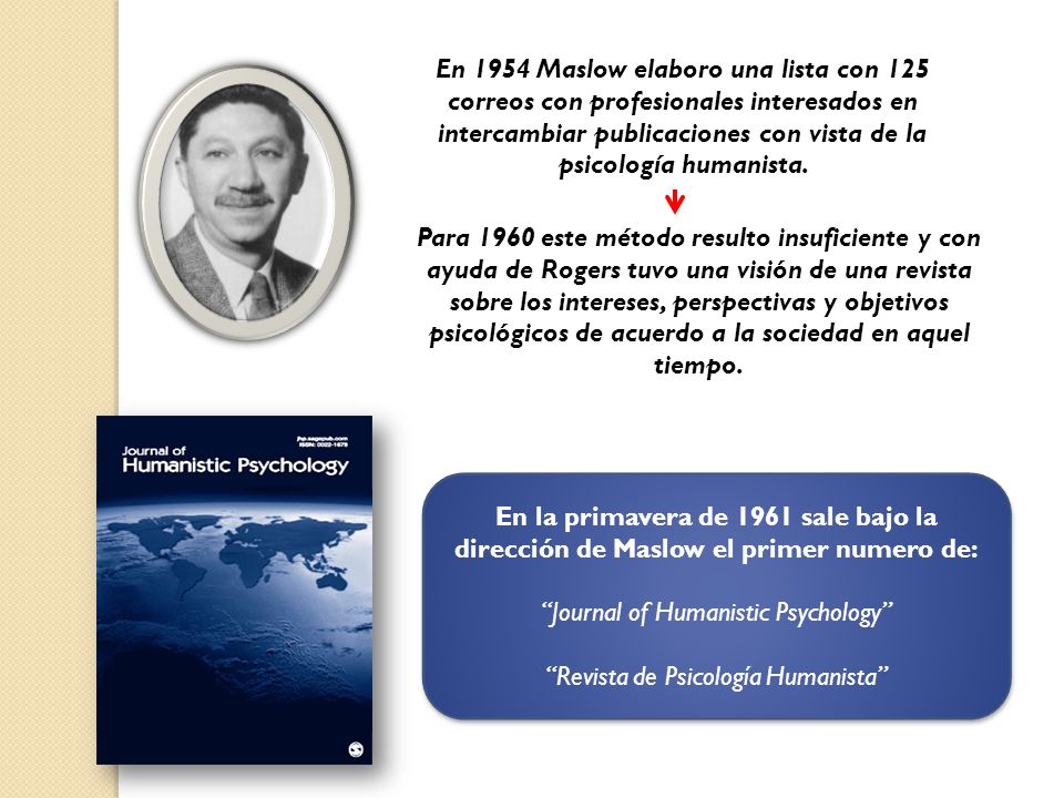 Journal of Humanistic Psychology Revista de Psicología Humanista