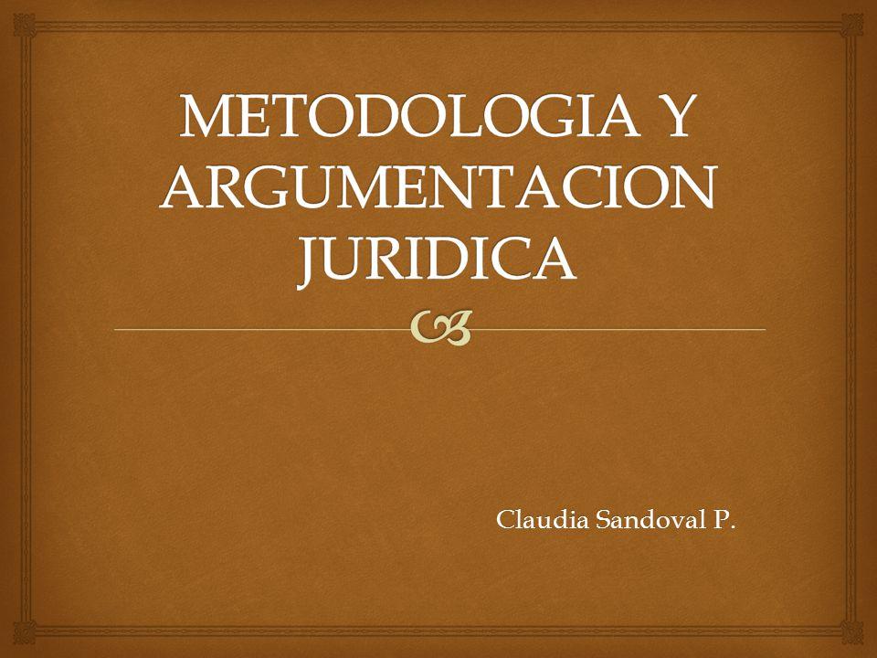 METODOLOGIA Y ARGUMENTACION JURIDICA