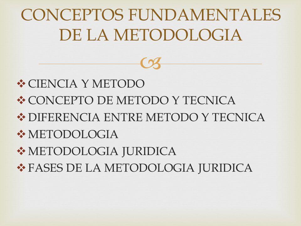 CONCEPTOS FUNDAMENTALES DE LA METODOLOGIA