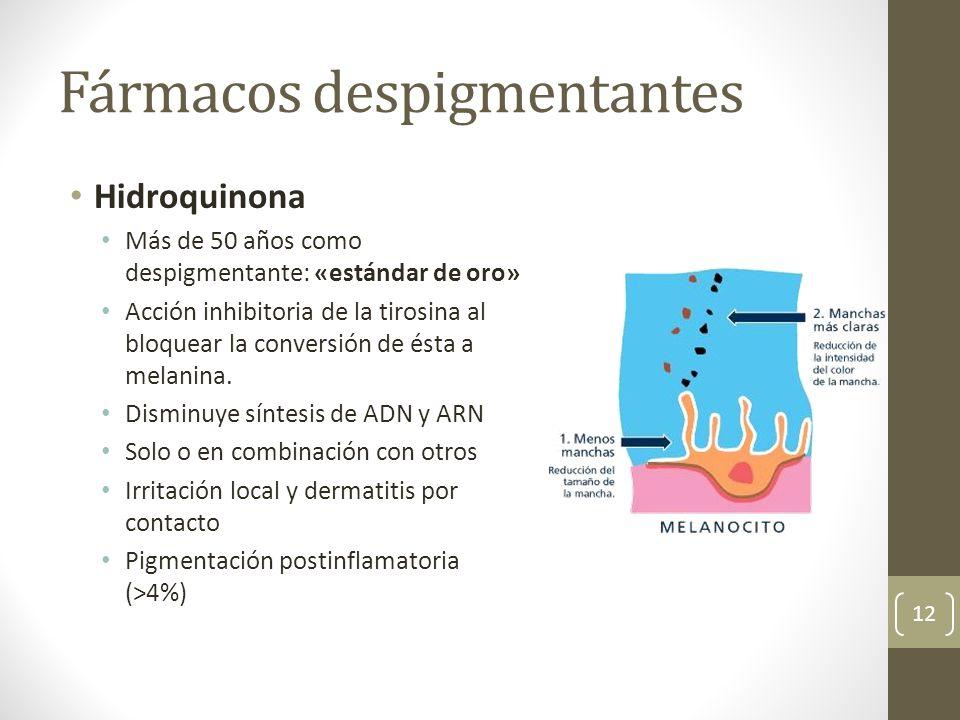 Fármacos despigmentantes
