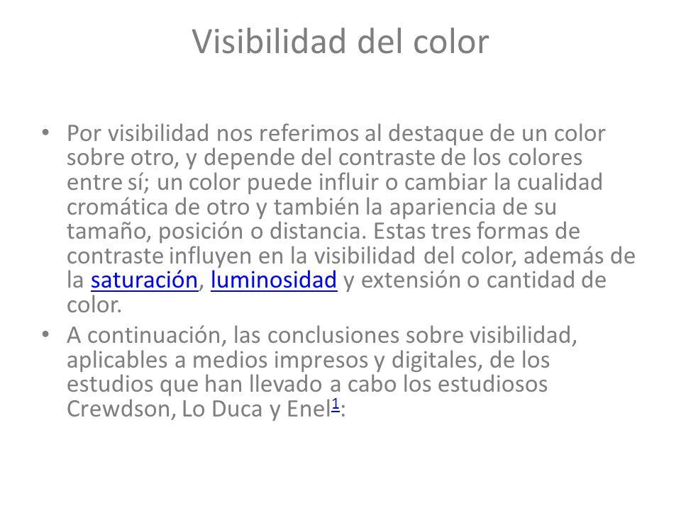 Visibilidad del color