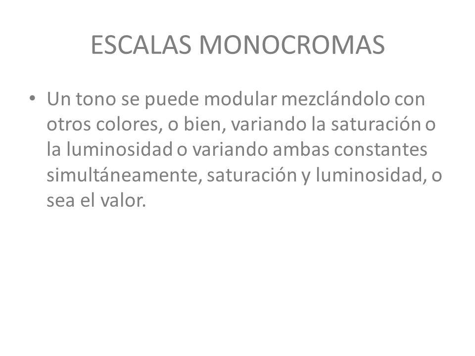 ESCALAS MONOCROMAS