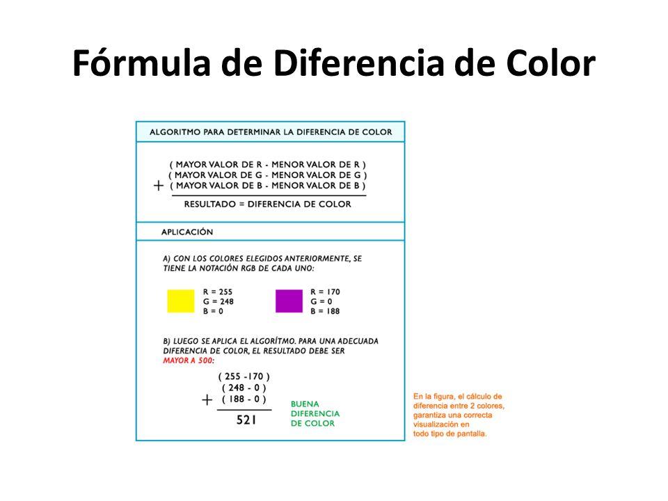 Fórmula de Diferencia de Color
