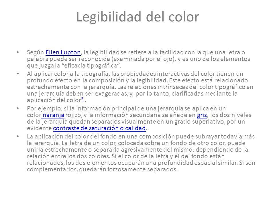 Legibilidad del color