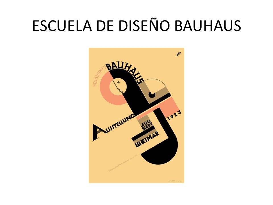 ESCUELA DE DISEÑO BAUHAUS